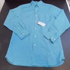 Southern Tide Men's Skipjack Plaid Shirt-Jasmine- MSRP$99.50 - Size Small - NWT
