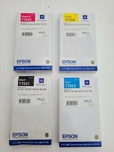 Genuine Epson WorkForce Pro Inks - T7551/T7552/T7553T/7554 -