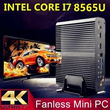 Fanless Mini PC i7 8565U 8550U 4 Core 8 Threads 2*DDR4 M.2+Msata+2.5''