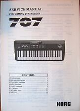 Korg 707 FM Performing Programmable Synthesizer Original Service Manual Document