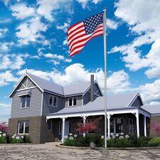 25ft Aluminum Sectional Flagpole Kit Outdoor Halyard Pole 1pc US American Flag