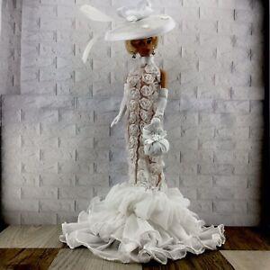 HANDMADE White 9 Pcs Dress Set FOR Barbie Vintage,Silkstone & Reproduction Doll