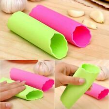 Silicone Garlic Cloves Peeler Skin Remover Press Roller High Kitchen CL H4Q9