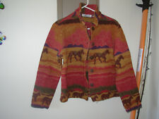 New Direction jacket running horses M desert sunset colors