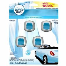 12 FEBREZE Car Air Freshener Vent Clips Eliminates Odors LINEN & SKY Scent