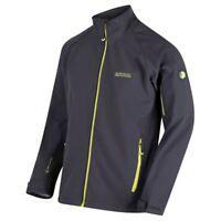 Regatta Mens Nielson Wind Resistant Softshell Warm Outdoor Work Jacket Grey