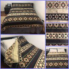 """Ecuadorian Wool Multi-color Reversible Bedspread 91""""x 74"""""""