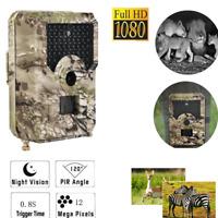 PR200 12MP 1080P HD Video Hunting Camera Night Vision 49 LEDs IR Trail Cam Trap