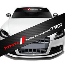 Toyota TRD Racing Front Window Windshield CarbonFiber Vinyl Banner Decal Sticker