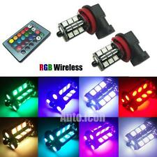 RGB Remote Wireless H8 H11 27-SMD LED Bulbs For Fog Daytime Running DRL Lights