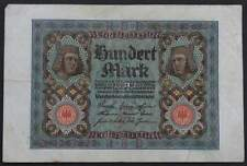 Germany 1920 100 Mark Banknote