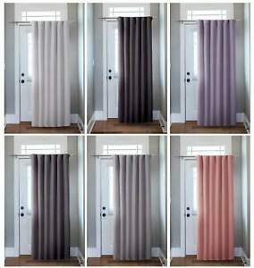 Capri Thermal One Pencil Pleat Panel Door Curtain Made of 100% Polyester