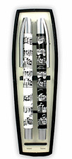 Sheet Music Ballpoint and Gel Pen Set - Music Themed Gift - Music Student Pens