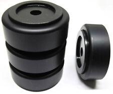 4x Dynavox massive Hifi-Gerätefüße Aluminium 50mm Boxenfüße Gummidämpfer schwarz