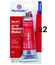 Permatex High Temperature Red RTV Silicone Gasket Maker 85g 81160 X2
