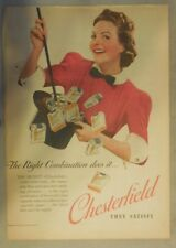 Chesterfield Cigarette Ad: Magician's Hat Trick ! Tabloid Page 1939