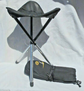 GCI Outdoor PackSeat Portable Tripod Black Camping Sports Hunt Stool W/Carry Bag