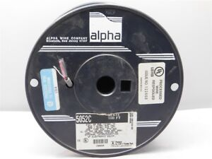 100' Alpha 5052C Xtra Guard PVC Control Cable 2 Conductor 20AWG Slate Color