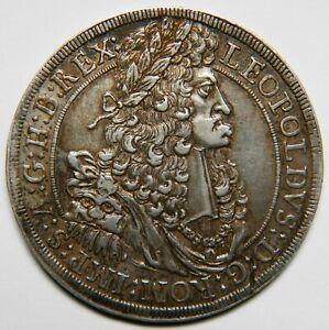Austria Leopold I thaler 1691 (Hall) XF [28.89 grams]