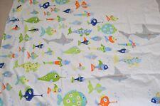 Pottery Barn Kids Shower Curtain Fish School Shark Multi Color 74x69