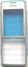Original Nokia x2-00 Cubierta Frontal Cubierta Frontal Plata Azul a granel NUEVO