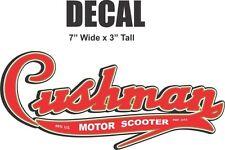 7 Inch Cushman Motor Scooter Vinyl Decal