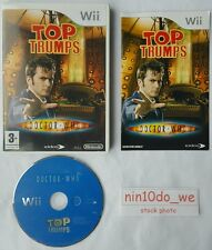 TOP TRUMPS: DOCTOR WHO (Wii) & U-TIME LORD Dr DAVID TENNANT+MARTHA=NEAR MINT✔
