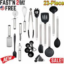 23-Piece Kitchen Utensil Set Stainless Steel Non Stick Cooking Bakeware Cookware