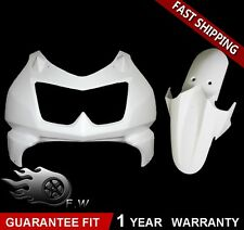 Unpainted Front Nose Fairing & Fender for KAWASAKI NINJA 250 2008-2012 09 10 11
