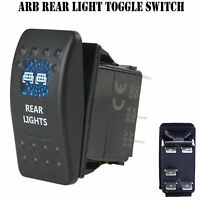12V 20A Bar ARB Carling Rocker Toggle Switch Blue LED Car Boat Rear Light AL M2.