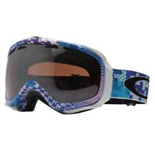 Oakley 57-484 ELEVATE Buffalo Plaid Purple Blue w/ VR28 Black Snow Ski Goggles .