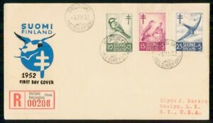 Mayfairstamps FINLAND FDC 1952 COVER ANTI TB BIRDS COMBO wwk93155