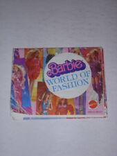 Vintage Mattel Barbie World Of Fashion Booklet, 1983, 100% Original!