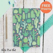 A5 Cactus Notebook Green Fun Gift Sketch Book Journal Diary Kids School Cute