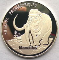 Congo 1994 Mammoth 1000 Francs Silver Coin,Proof