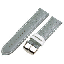 RALLY SMOOTH PERFORATED Leather Interchangeable Watch Band Strap
