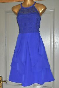 COAST COBALT BLUE EMBROIDERED EVENING PARTY WEDDING OCCASION DRESS SIZE 12