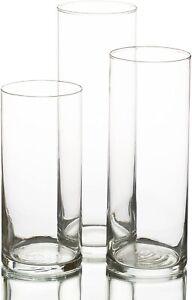 Eastland Glass Cylinder Vases (3 Sizes) Set of 3