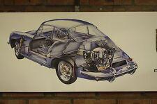 PORSCHE 356 C PVC grande lavoro Negozio Banner Garage CAR SHOW Banner