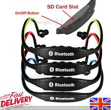 Nuevo Estéreo Inalámbrico Bluetooth Auriculares Auriculares Auriculares Sports Gym ranura para tarjeta