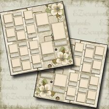 FAMILY TREE - Premade Scrapbook Pages - EZ Layout 566
