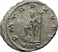 GALLIENUS Authentic Ancient 266AD Antioch Genuine Roman Coin w NEPTUNE i78476