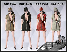 POP Toys 1/6 Tan Sexy War Women  outfit for Phicen Body ship from USA now F27A