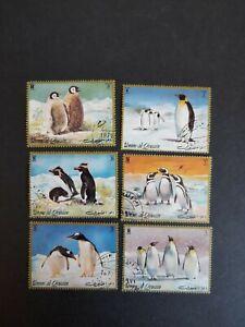 Umm al qiwain stamp set Antarctic penguins 1971/72 used hinged. See description