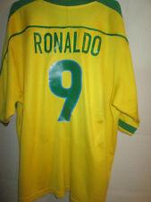Brazil 1998-2000 Ronaldo 9 Home Football Shirt XL /34061