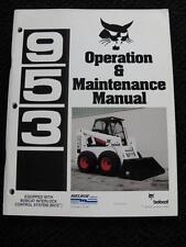 ORIG BOBCAT 953 BICS SKID STEER LOADER TRACTOR OPERATORS MAINTENANCE MANUAL NICE