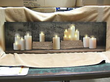 Mantel Candles Books Lighted Canvas Wall Decor Sign BEAUTIFUL