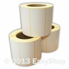 More details for 102mm x 50mm white thermal direct zebra tec printer address label roll 25mm core