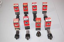Vacuum Tubes RCA Electronic Lot of 8 NOS in Original Boxes