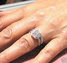 2.02CTW PRINCESS DIAMOND ENGAGEMENT RING & BAND